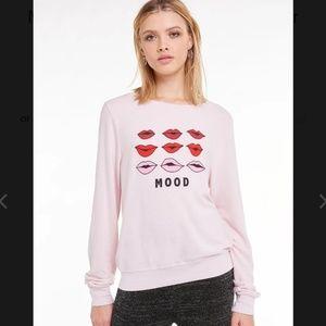 Wildfox Moody Lips Baggy Beach Jumper Sweatshirt